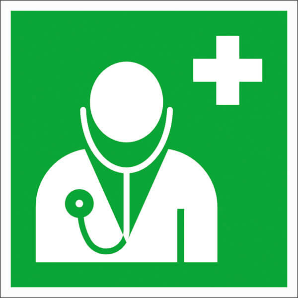 Ärztliche Versorgung Hinweisschild