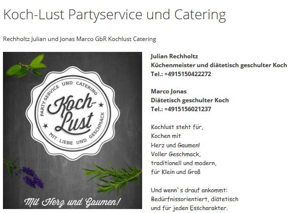 Koch-Lust-Start